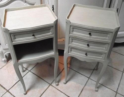 Superb pair of french painted bedside tables chalk painted superb pair of french painted bedside tables watchthetrailerfo