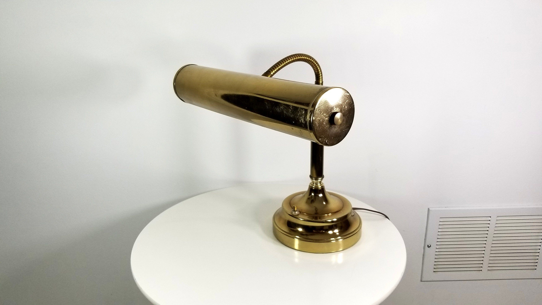 Vintage Brass Piano Lamp Banker S Lamp Goose Neck Desk