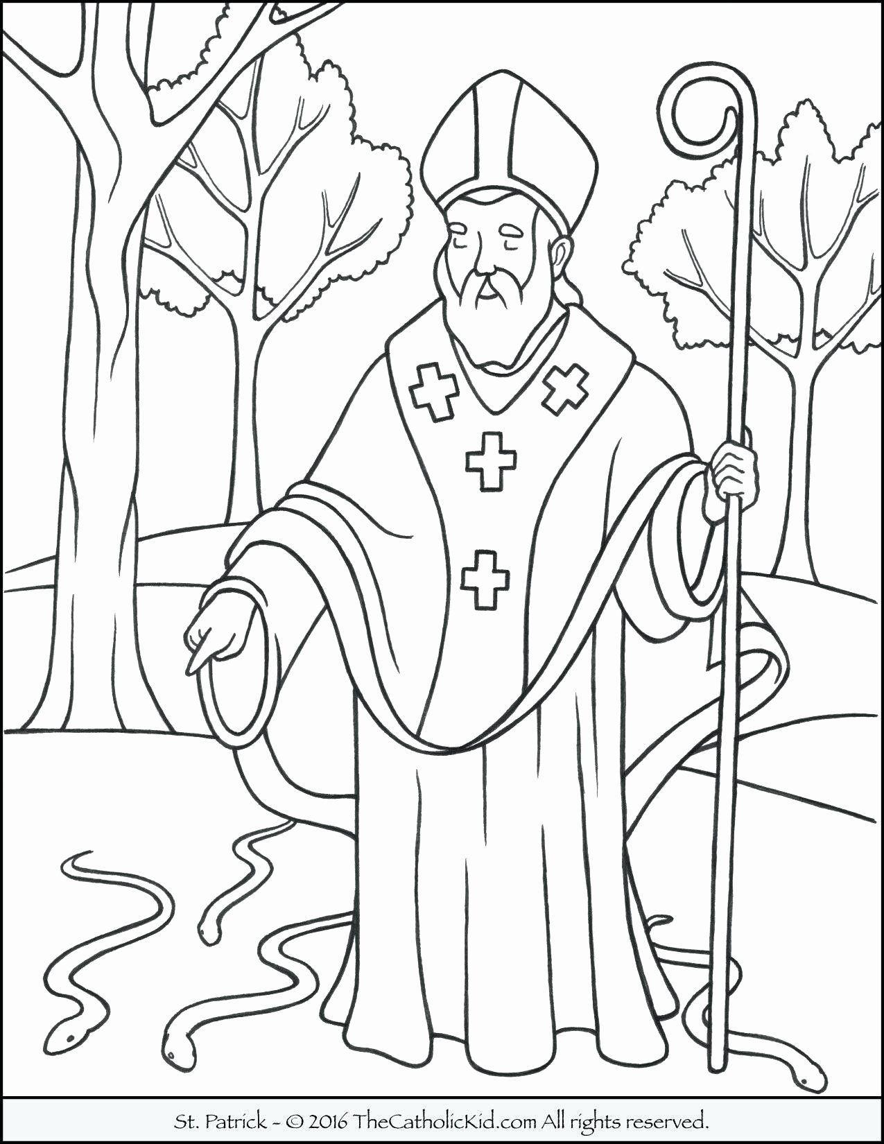 Coloring Pages St Patrick Fresh Free Printable Coloring