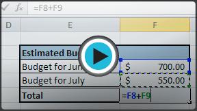 "Launch ""Simple Formulas in Excel 2010"" video!"