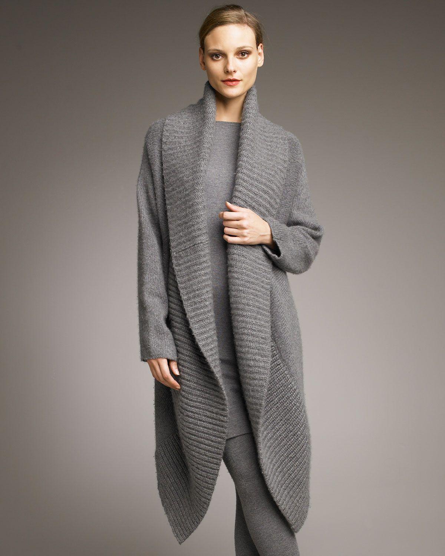 Donna karan new york Stretch Cashmere Sweater Dress in Gray (grey ...