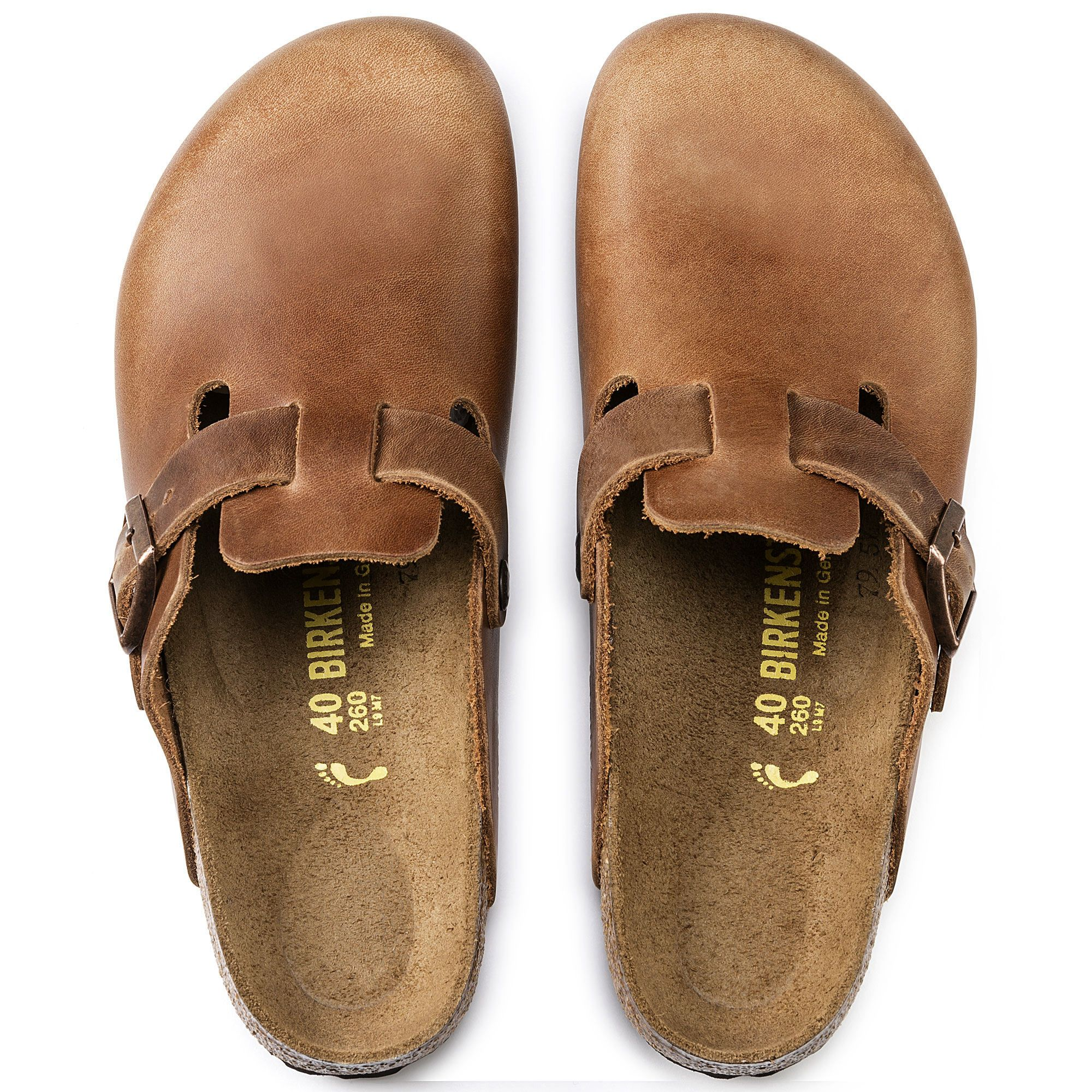 Boston Oiled Leather in 2020   Dad shoes, Clogs outfit, Leather