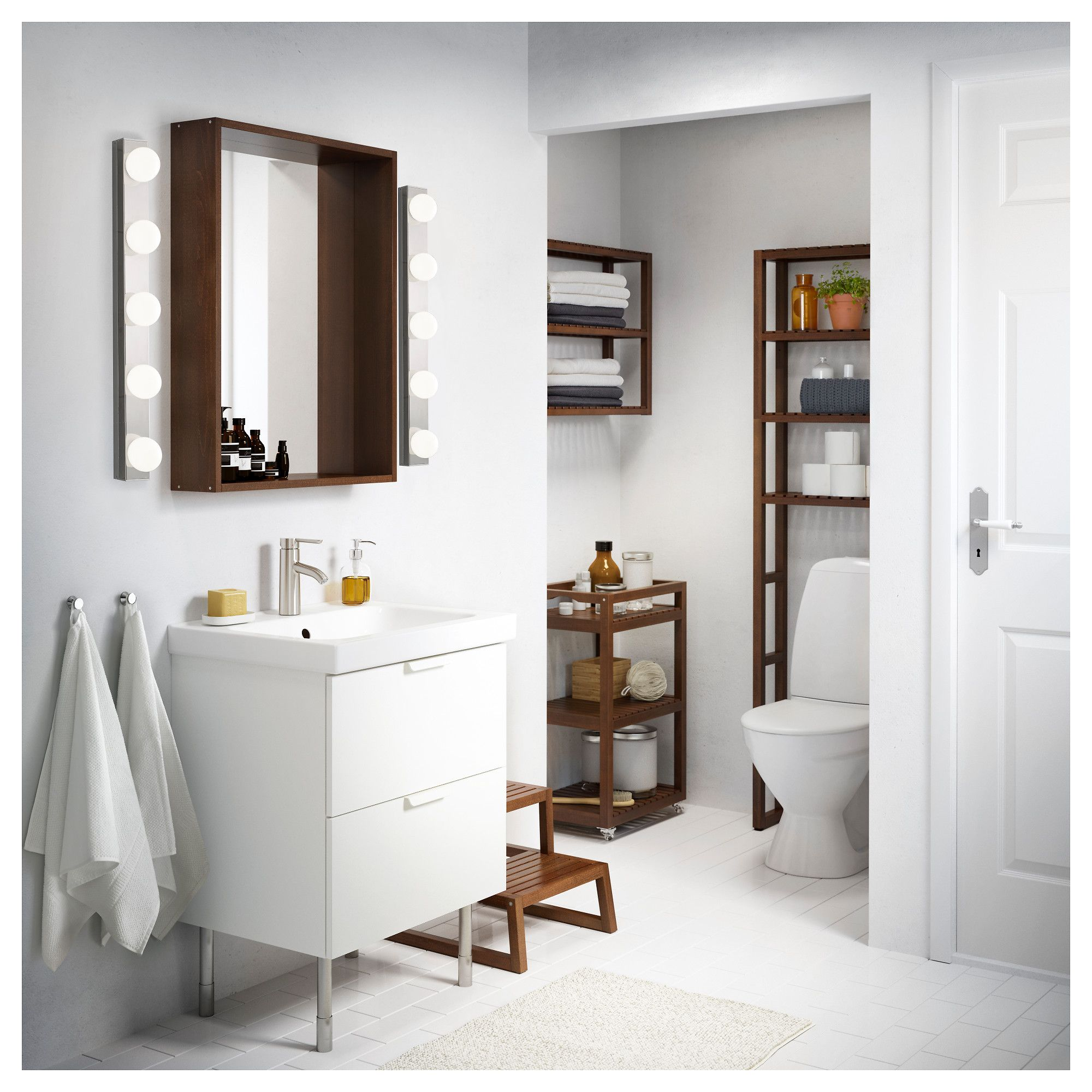 Ikea godmorgon odensvik sink cabinet with drawers white in