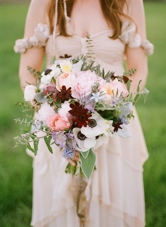 Peonies Anemones And Rose Bridal Bouquet Flowers By April Photo The