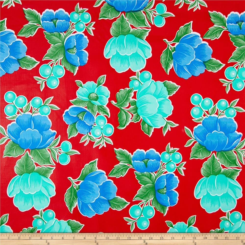 Oil cloth poppy red from fabricdotcom these extra wide window