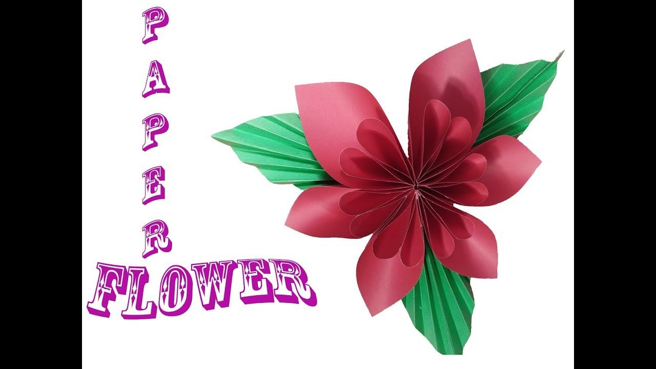How To Make Beautiful Origami Paper Flower Step By Step Video Diy