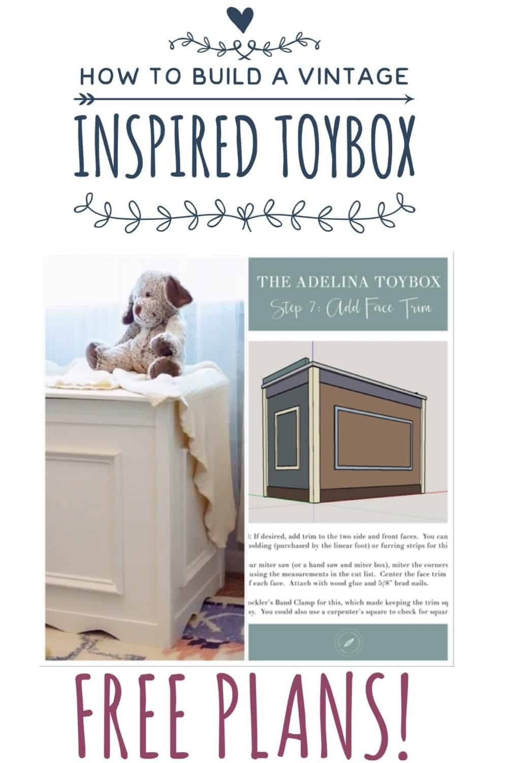How To Build A Vintage Inspired White Toybox Child Inspired Diys