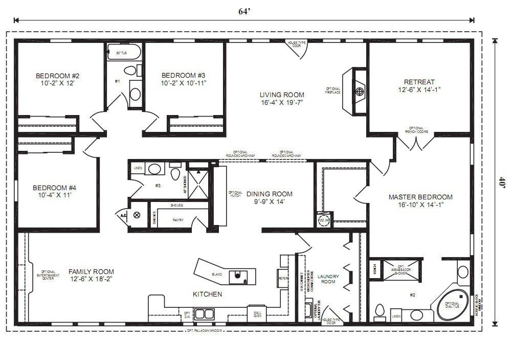 Image Result For 5 Bedroom 4 Bath Rectangle Floor Plan Modular Home Floor Plans Modular Home Plans Modular Floor Plans