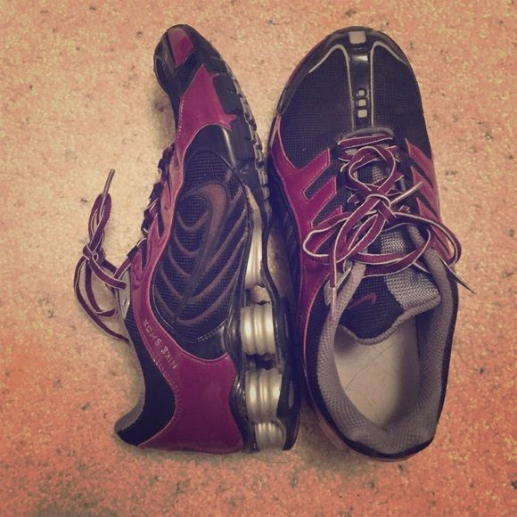 Nike shox Custom Nike iD. Plum purple. Barely worn in great condition. Nike Shoes Athletic Shoes