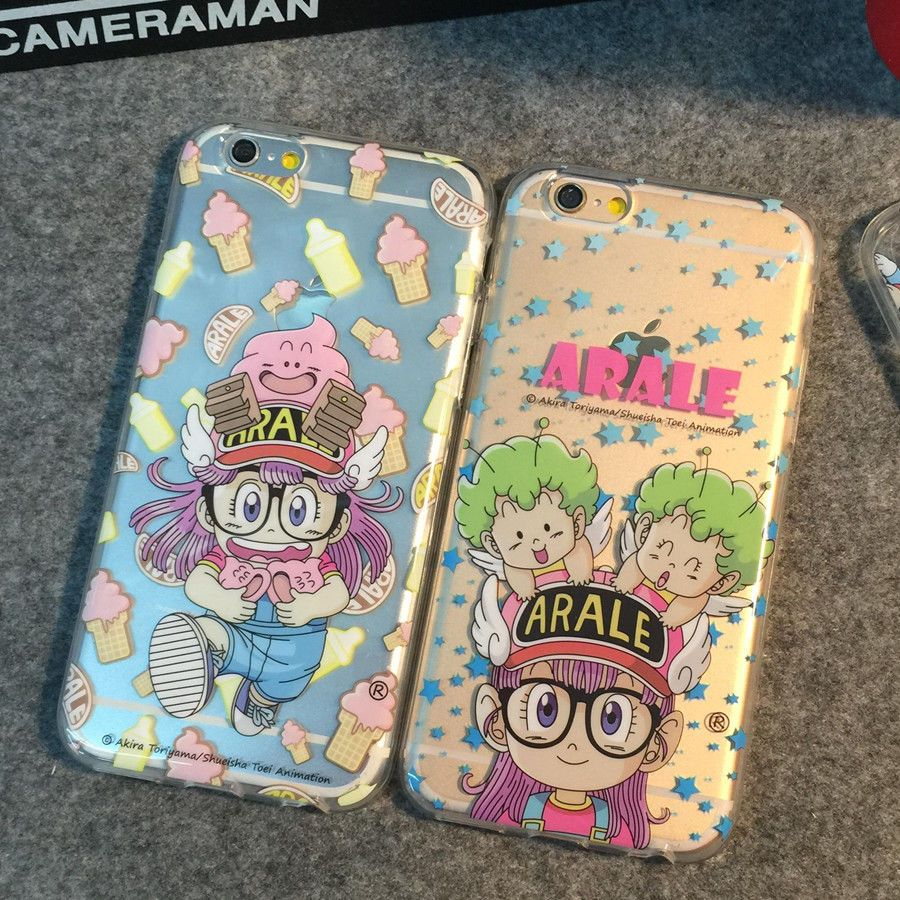 Cute New hot cartoon Arale Slim silicone soft case cover for apple iphone6 plus #Romrichcaseshop