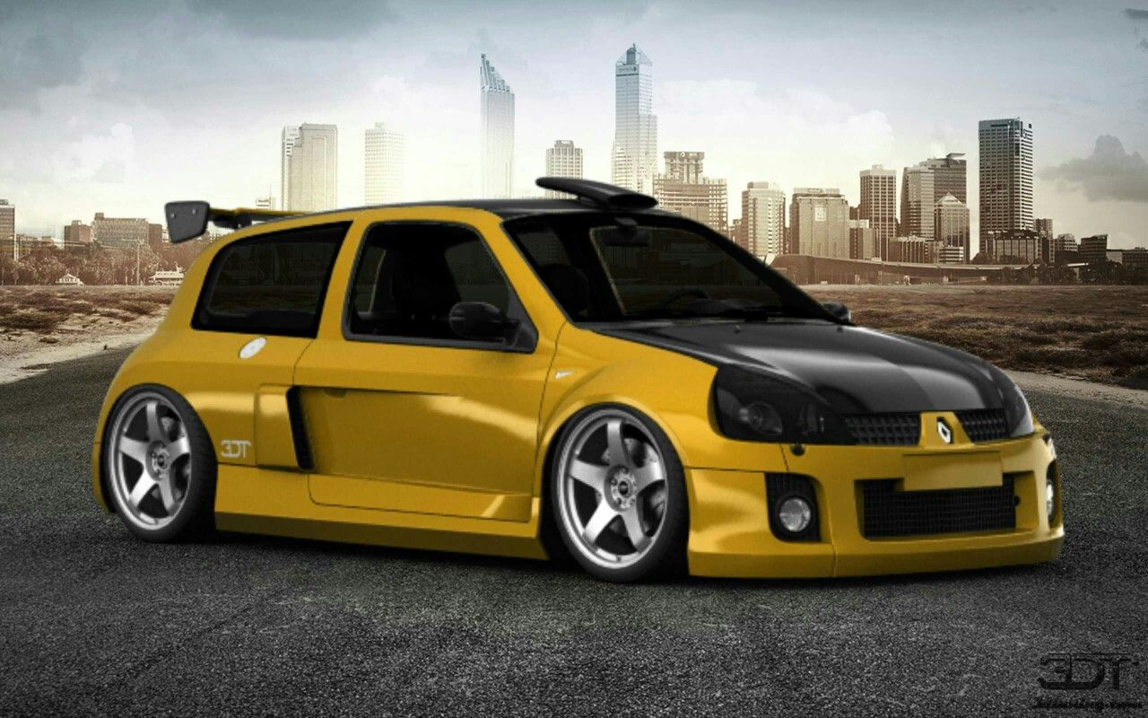 3d tuning renault clio v6 race car renault clio. Black Bedroom Furniture Sets. Home Design Ideas
