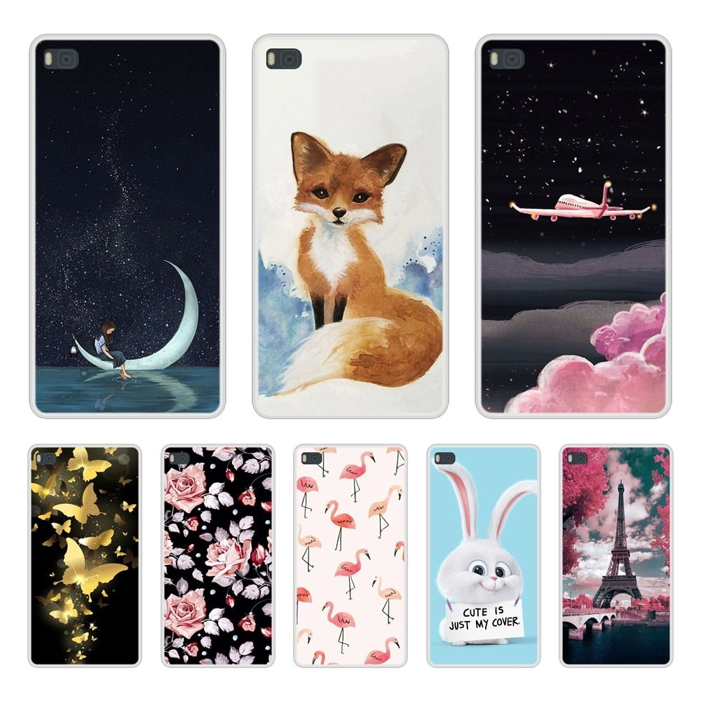 Case For Huawei P8 Soft Silicone TPU Cool Design Pattern Printing ...