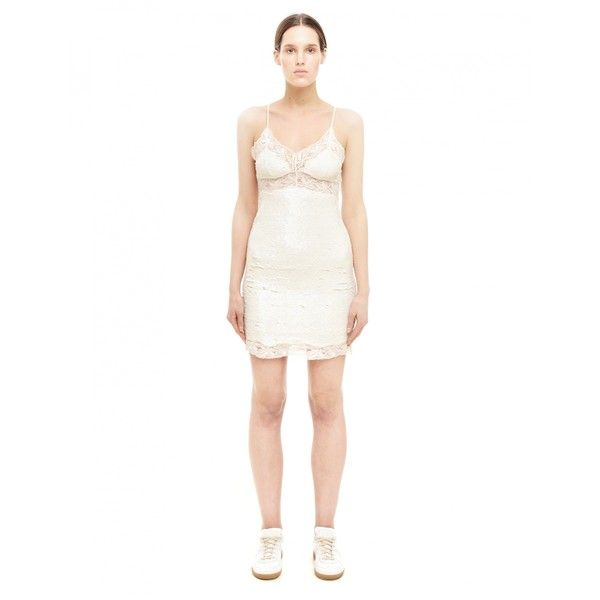 Ashish Silk dress ($1,074) ❤ liked on Polyvore featuring dresses, ashish, white dress, white silk dress and silk dress