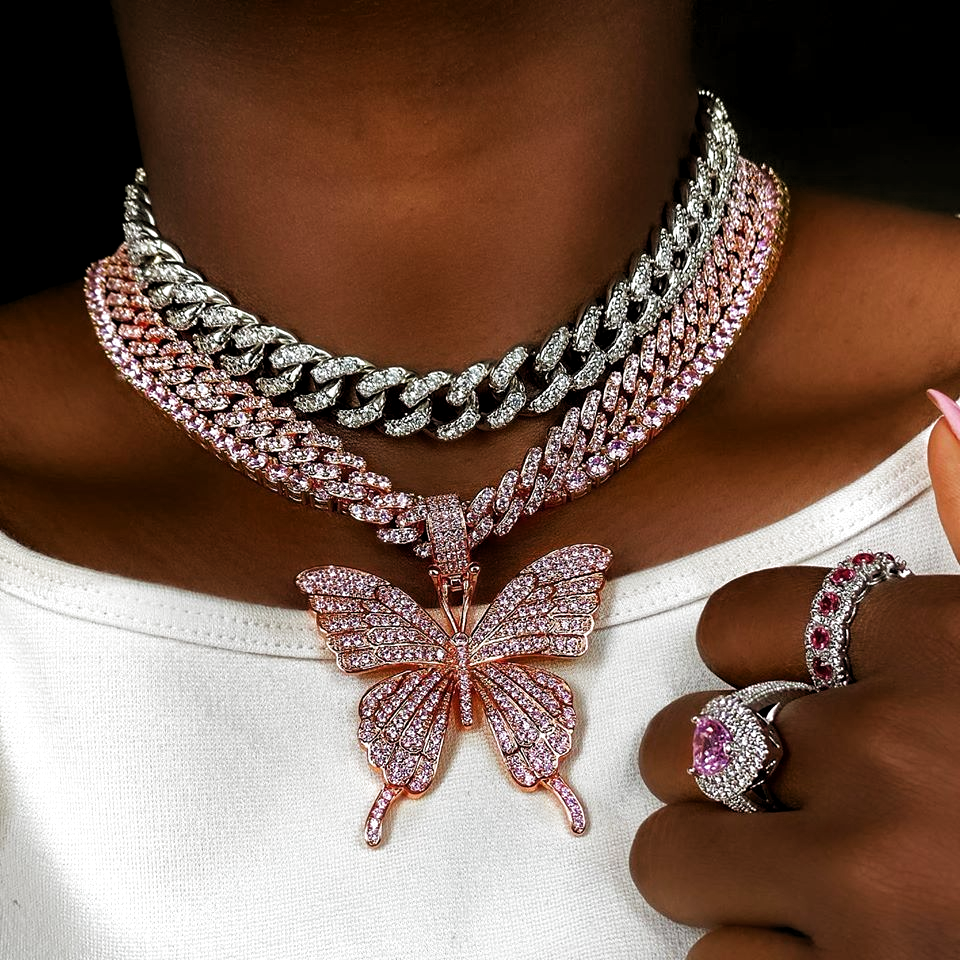 Photo of Rose Gold Butterfly Dreams | Diamond Cuban Link  Butterfly jewelry is all the cr…