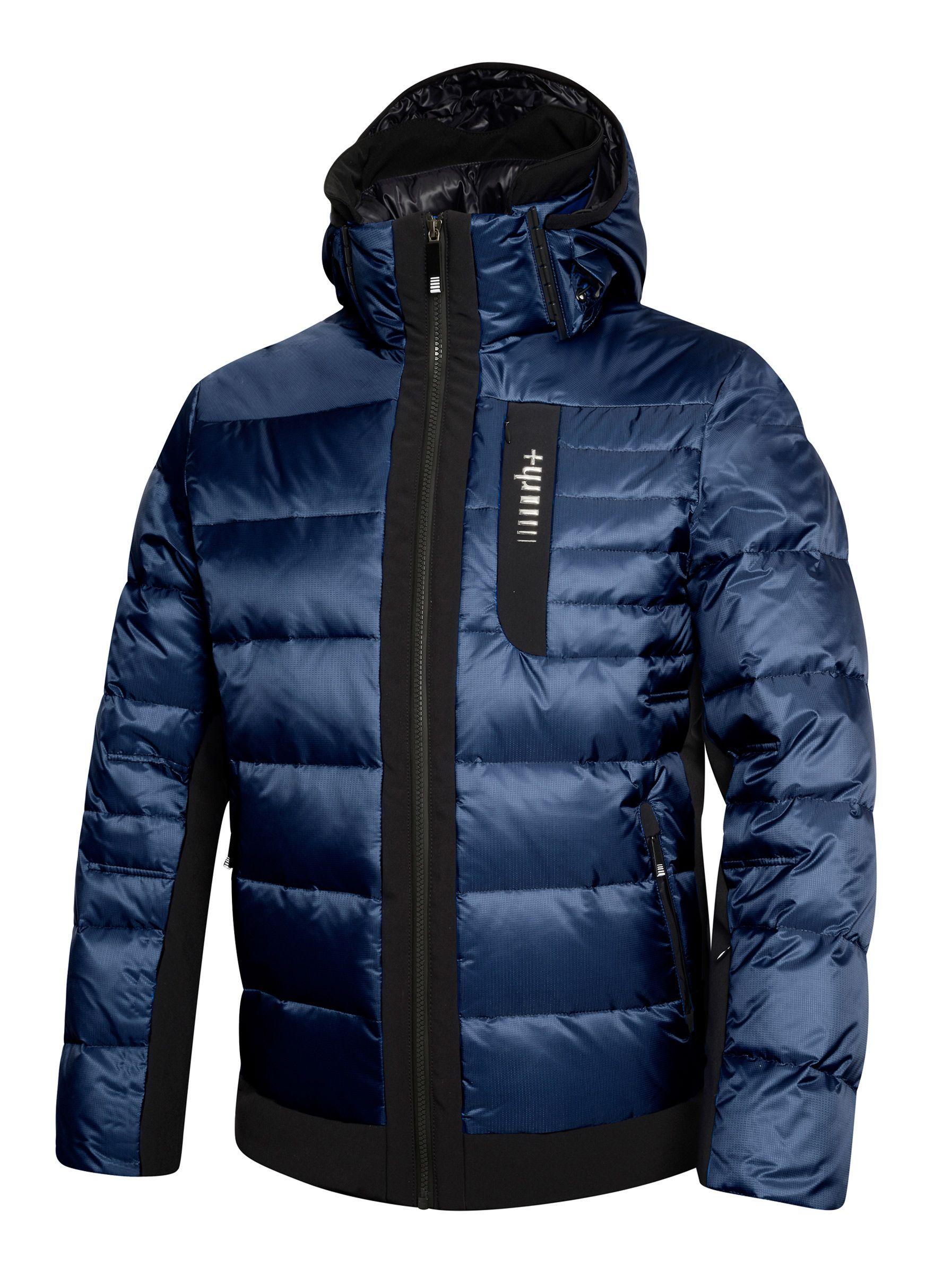 Navy Insulated Ski Jacket With 100 Down Insulation Versatile Multipurpose Men S Ski Jacket For Athletic Ski Jacket Mens Winter Jacket Men Mens Winter Coat [ 2400 x 1794 Pixel ]