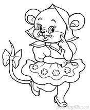 pobedpix.com / картинка мышка раскраска. | Раскраски ...