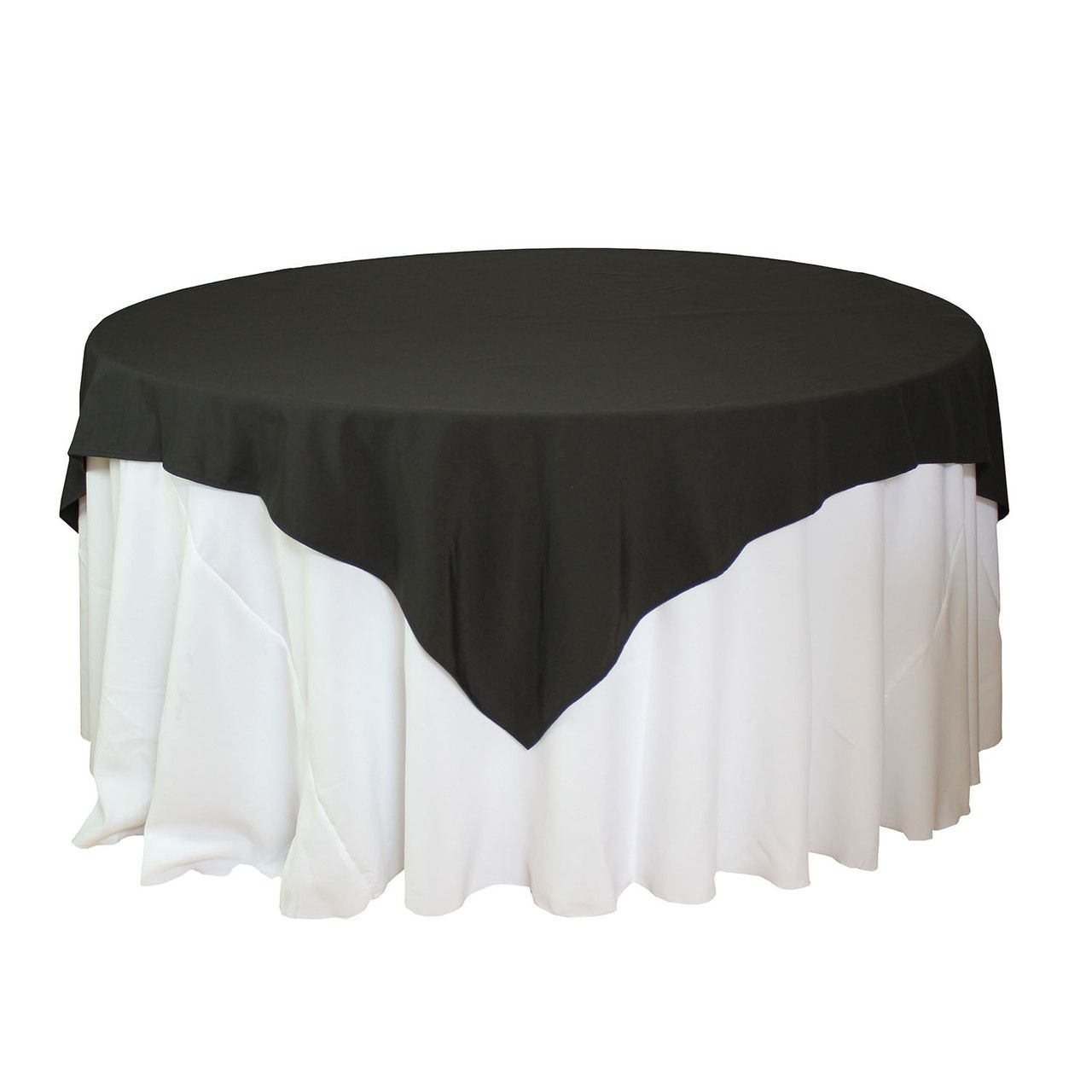 Round Table With Tablecloth.85 X 85 Inch Black Square Tablecloths Black Table Overlays