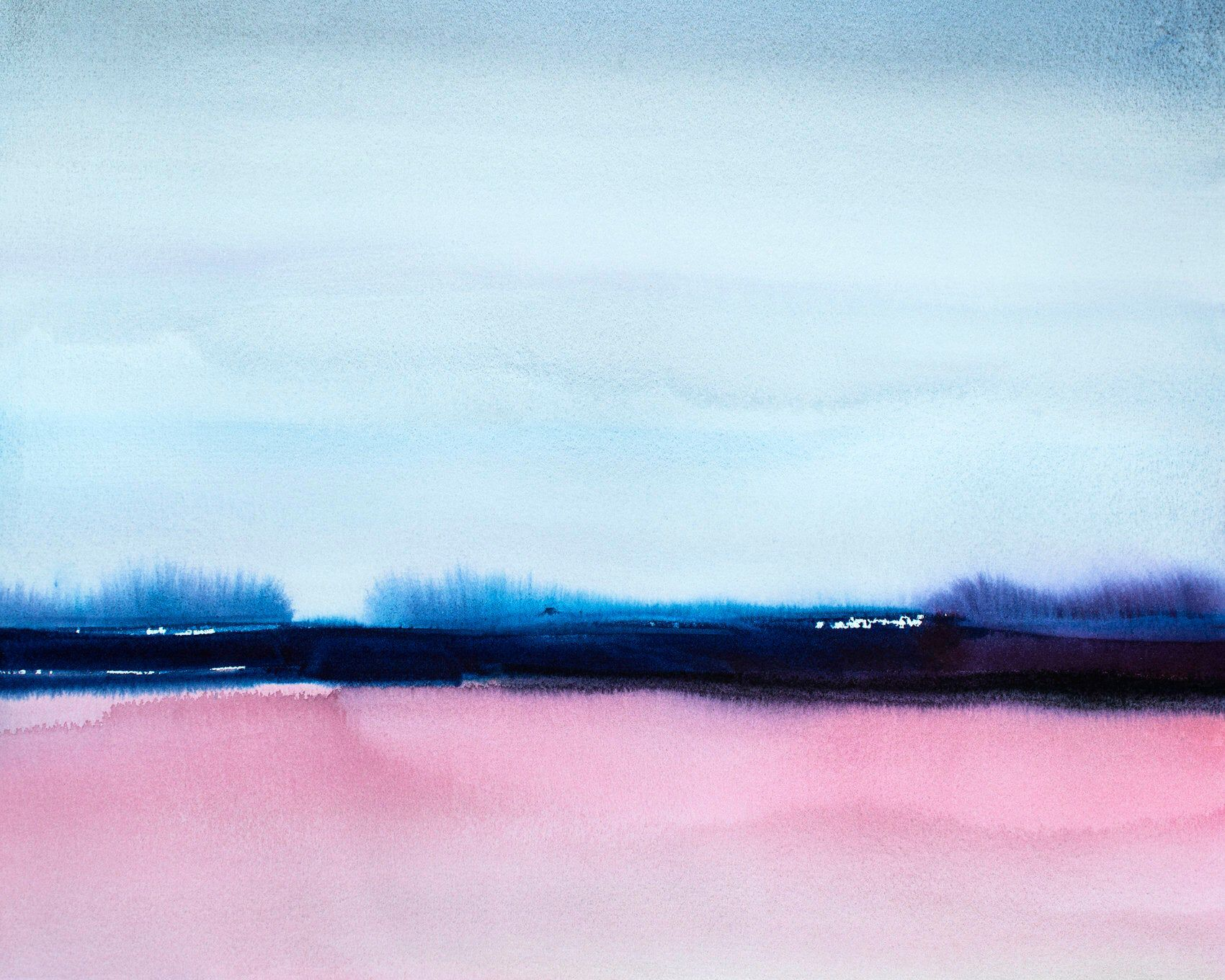 Abstract Landscape Print Pink And Gray Watercolor Painting Modern Contemporary Art Grays And Pinks Abstract Horizon Wall Art By Thepainted Abstract Landscape