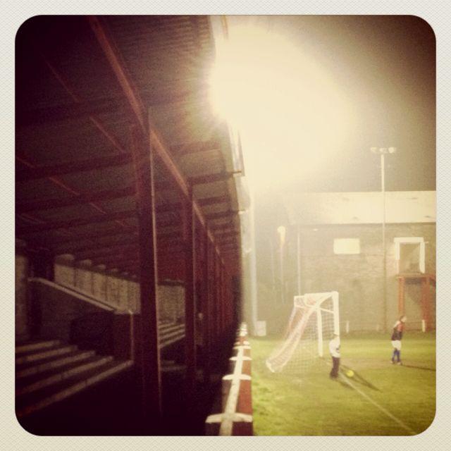 Pre-match at Ynys Park, Ton Pentre.