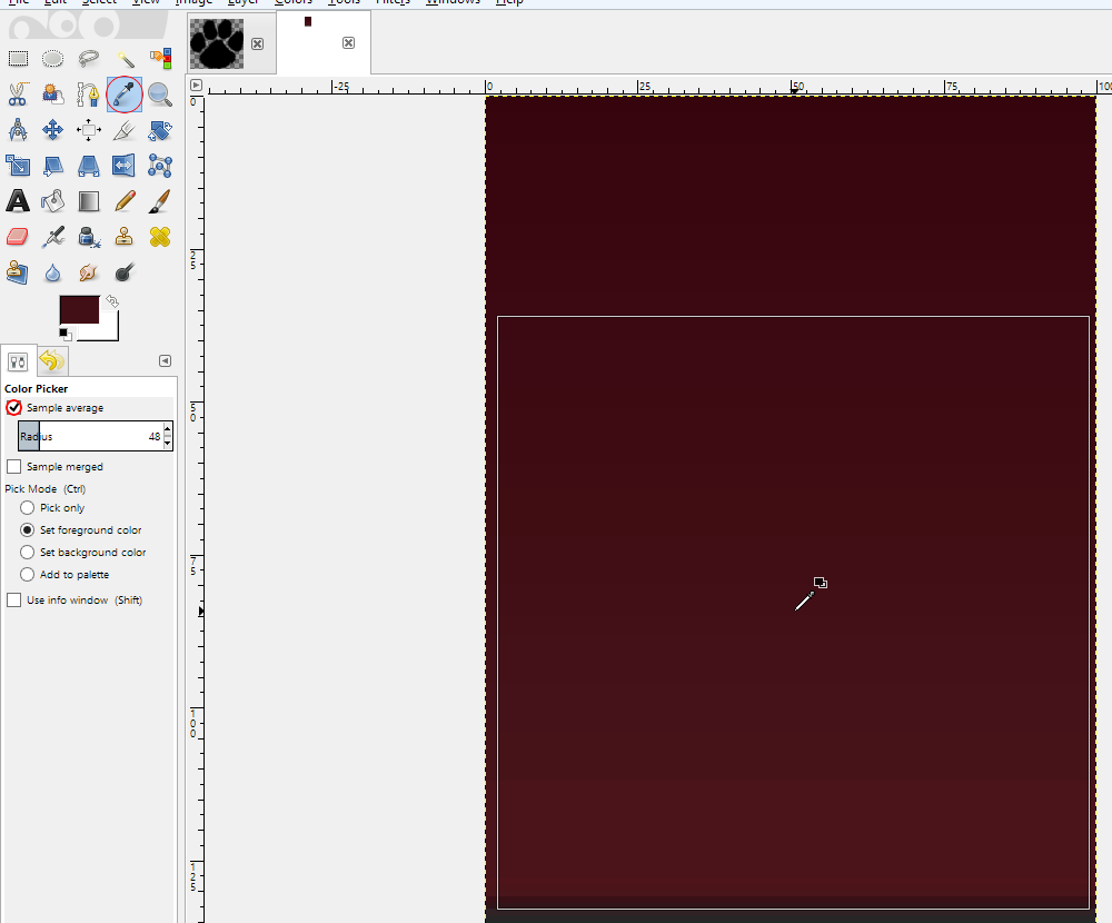 Convert a simple image to a vector graphic using GIMP and