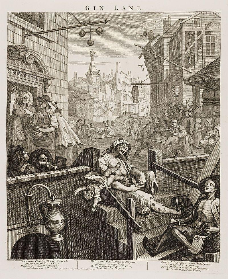 Ginlane Beer Street And Gin Lane Wikipedia The Free