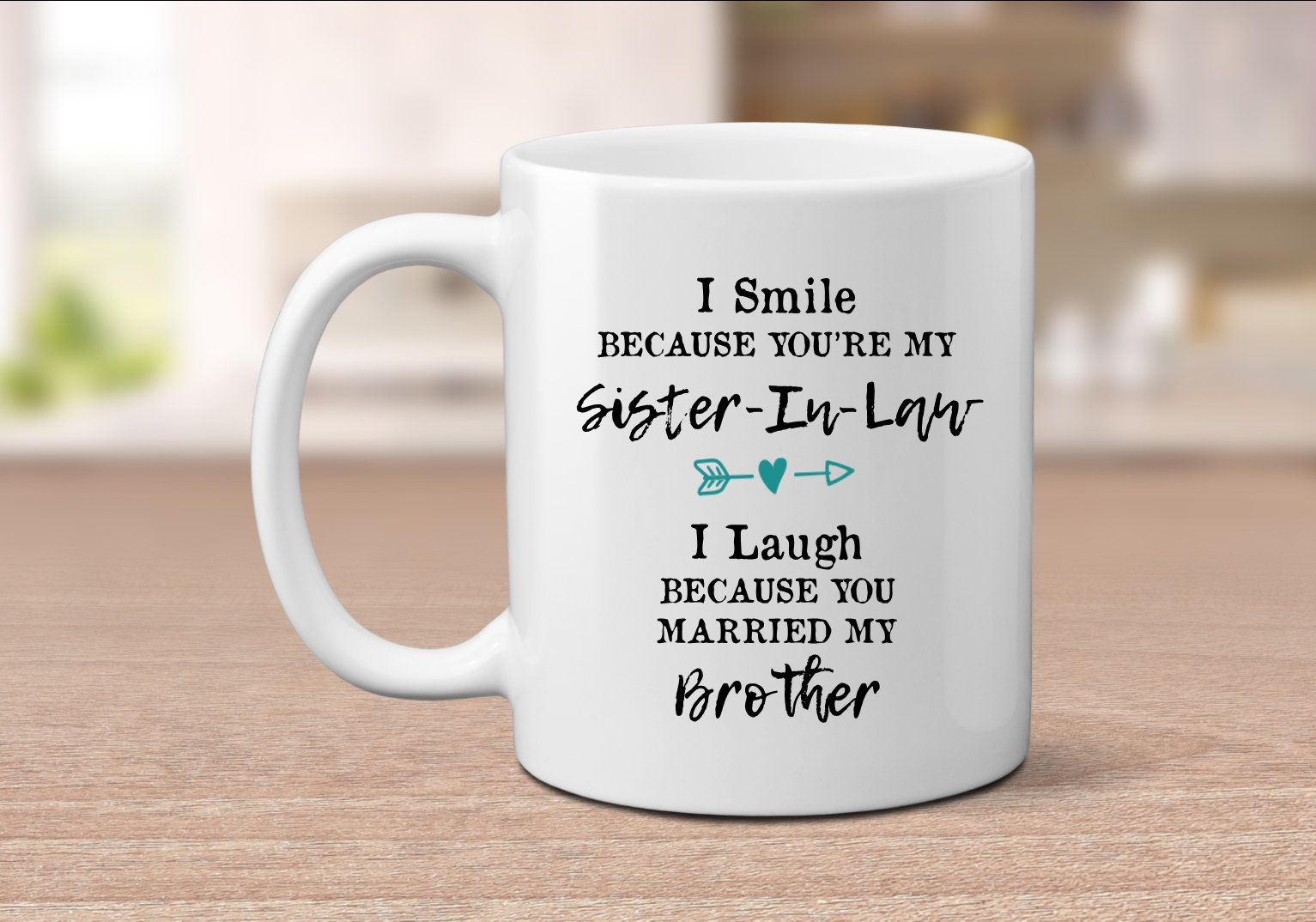 Sister In Law Gift Mug Wedding Birthday Bridesmaid Proposal Funny Sis Gifts For By SimplyBrewed On
