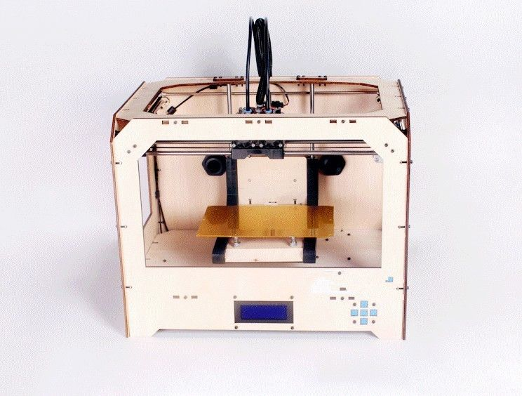 dual extruder 3D printer w/2 spools ABS filament 3d