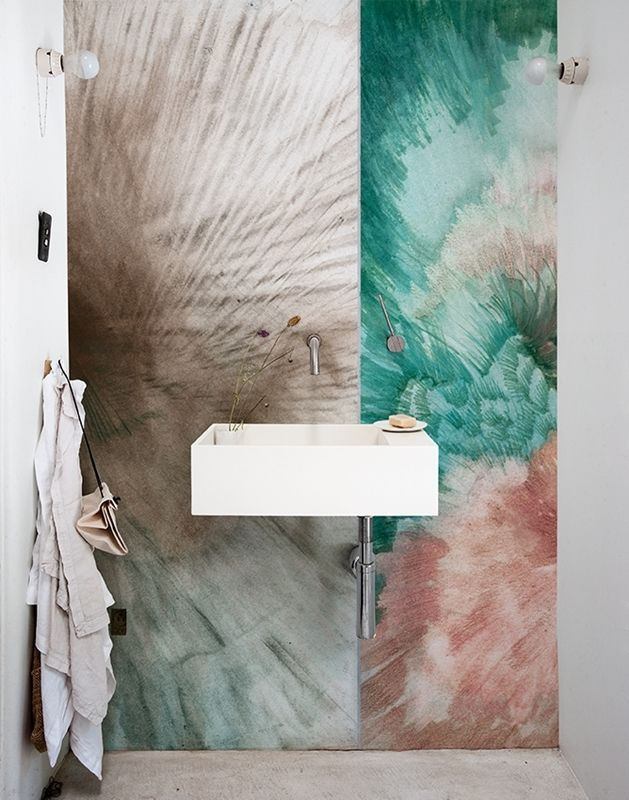 wet area wallpaper makes an impressive mural like design in anywet area wallpaper makes an impressive mural like design in any bathroom or wet space