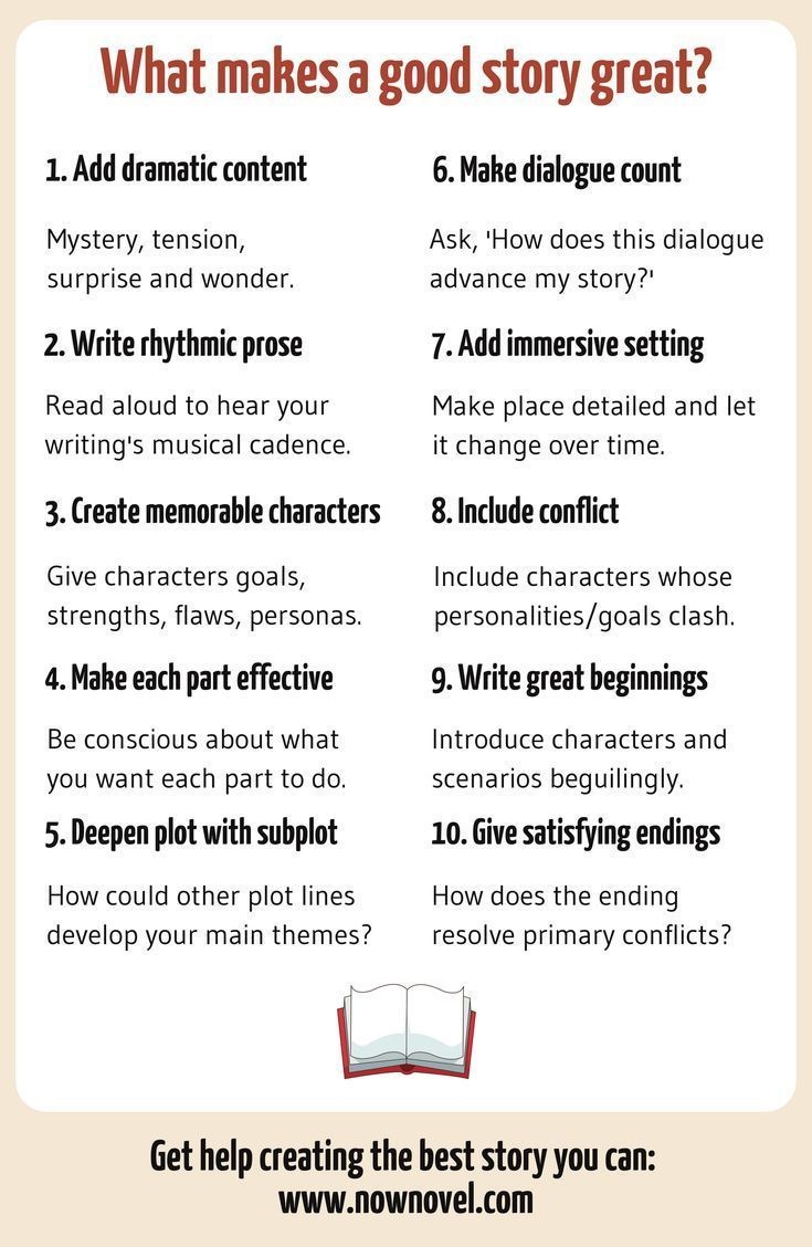 What Makes a Good Story? 28 Elements  Now Novel  Book writing