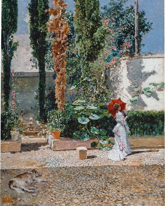 """""""Jardín de la casa de Fortuny"""", Mariano Fortuny; Raimundo de Madrazo 1877"""