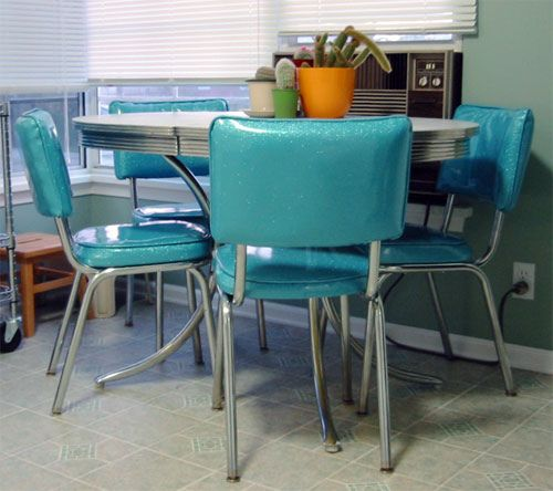 50 u0027s diner table and chairs   want to reupholster our chairs in this color my   new   50 u0027s diner table and chairs   diner table diners and      rh   pinterest com