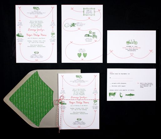 Darcey Roger Wedding Invitation Suite From Birdandbanner