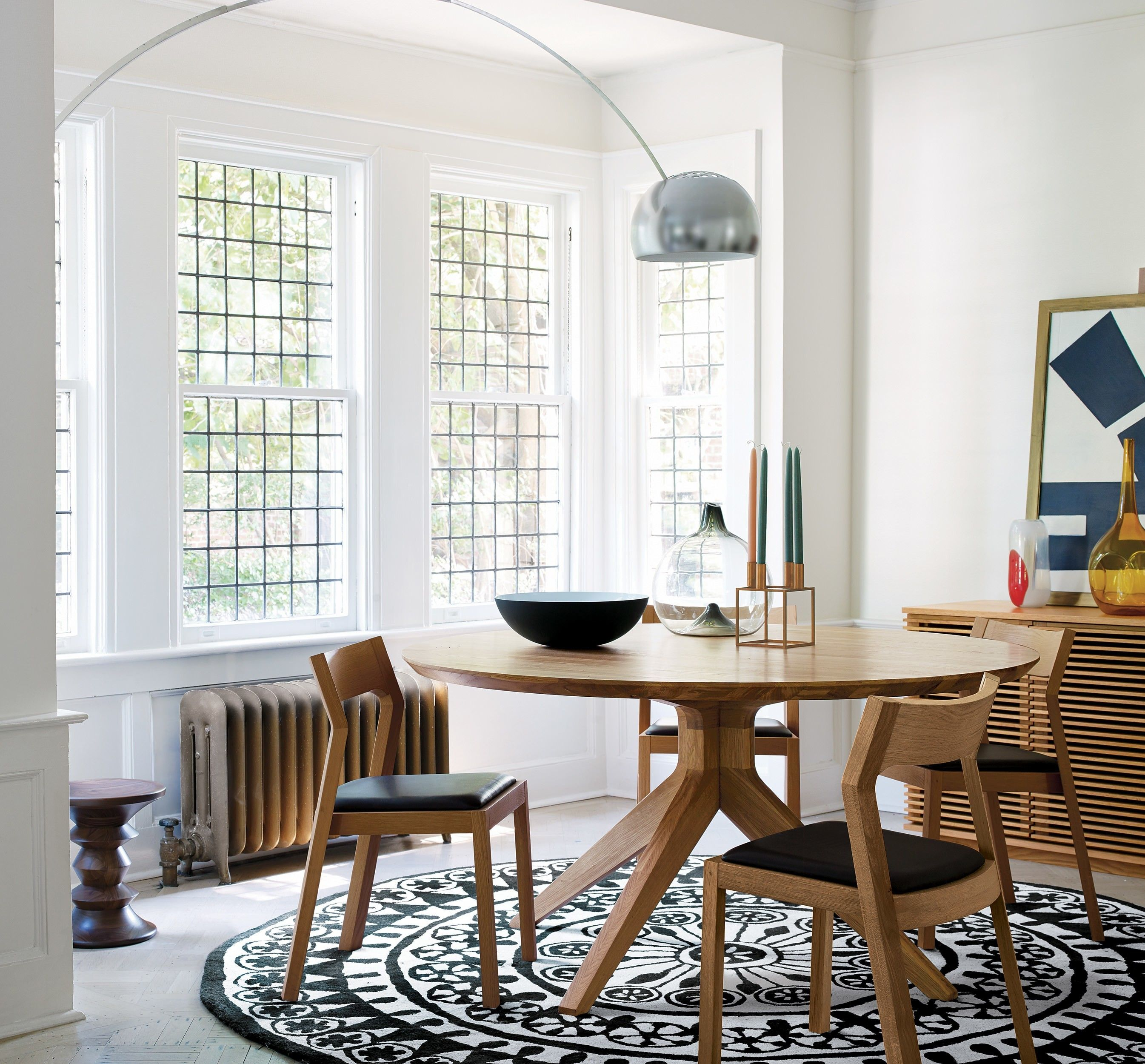 Cross Round Table | Round dining table, Solid wood and Tabletop