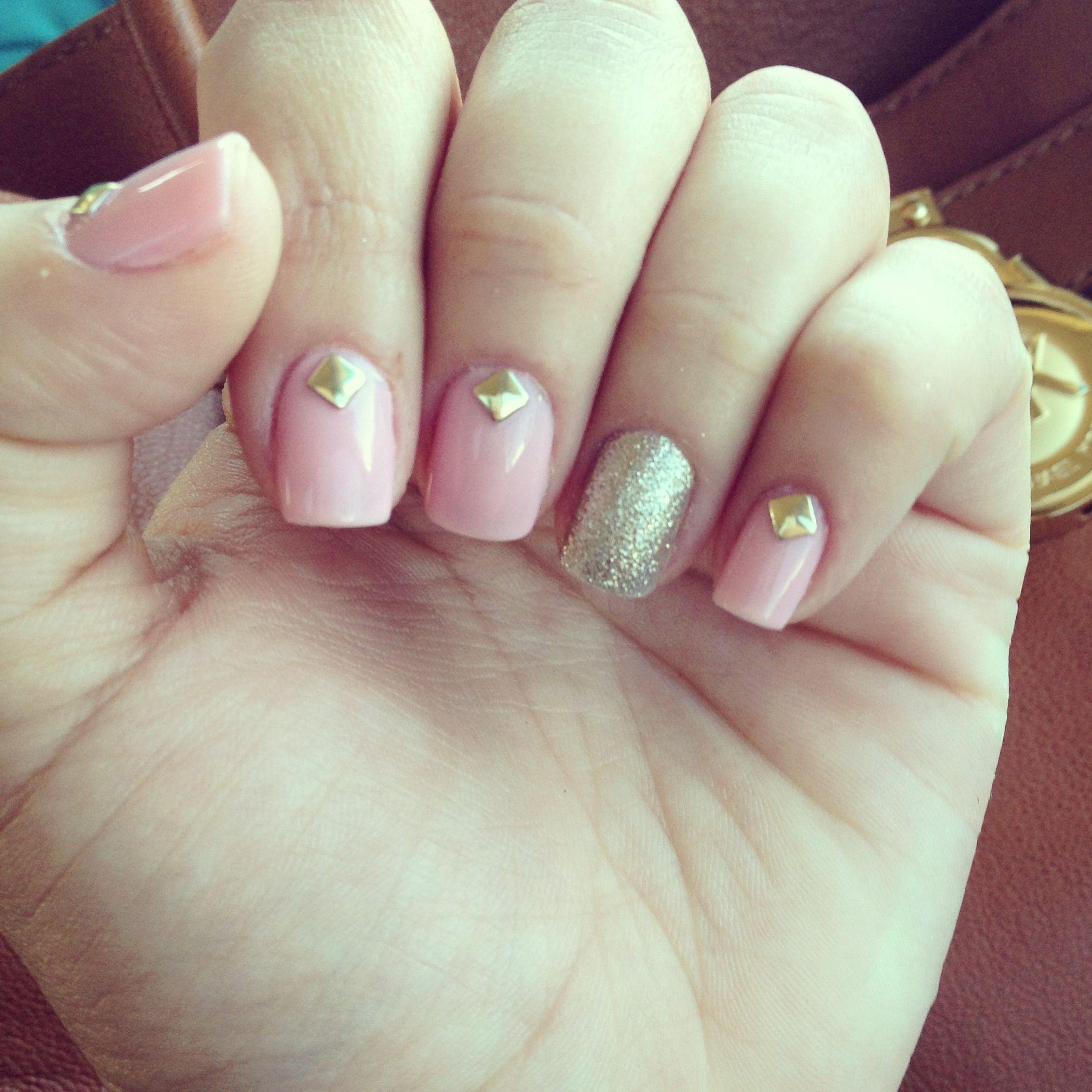 Nails cute nailart blingbling girls summer color classy chiq