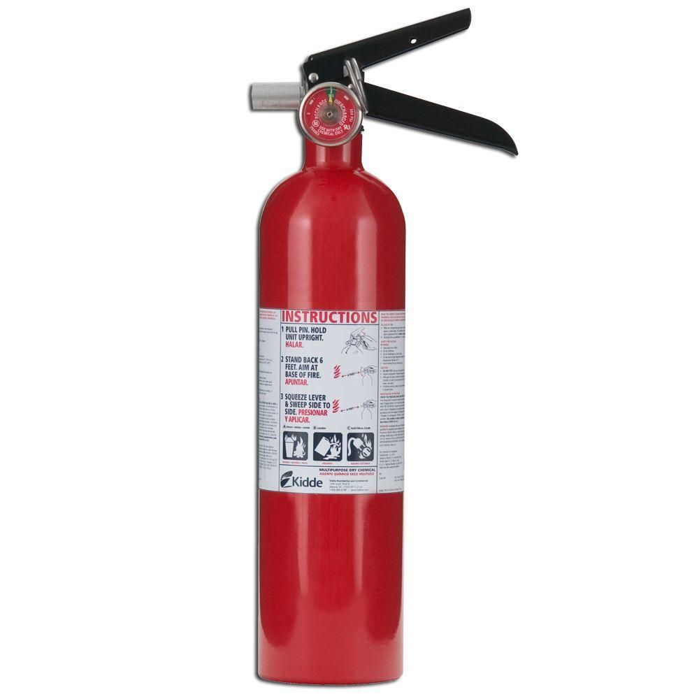 Kidde Pro 1a10 B C Fire Extinguisher 21005776 Fire Extinguisher Extinguisher Small Kitchen Diy