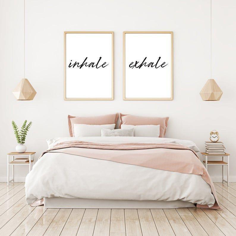 Inhale Exhale Set Of 2 Poster Bedroom Motivational Boho
