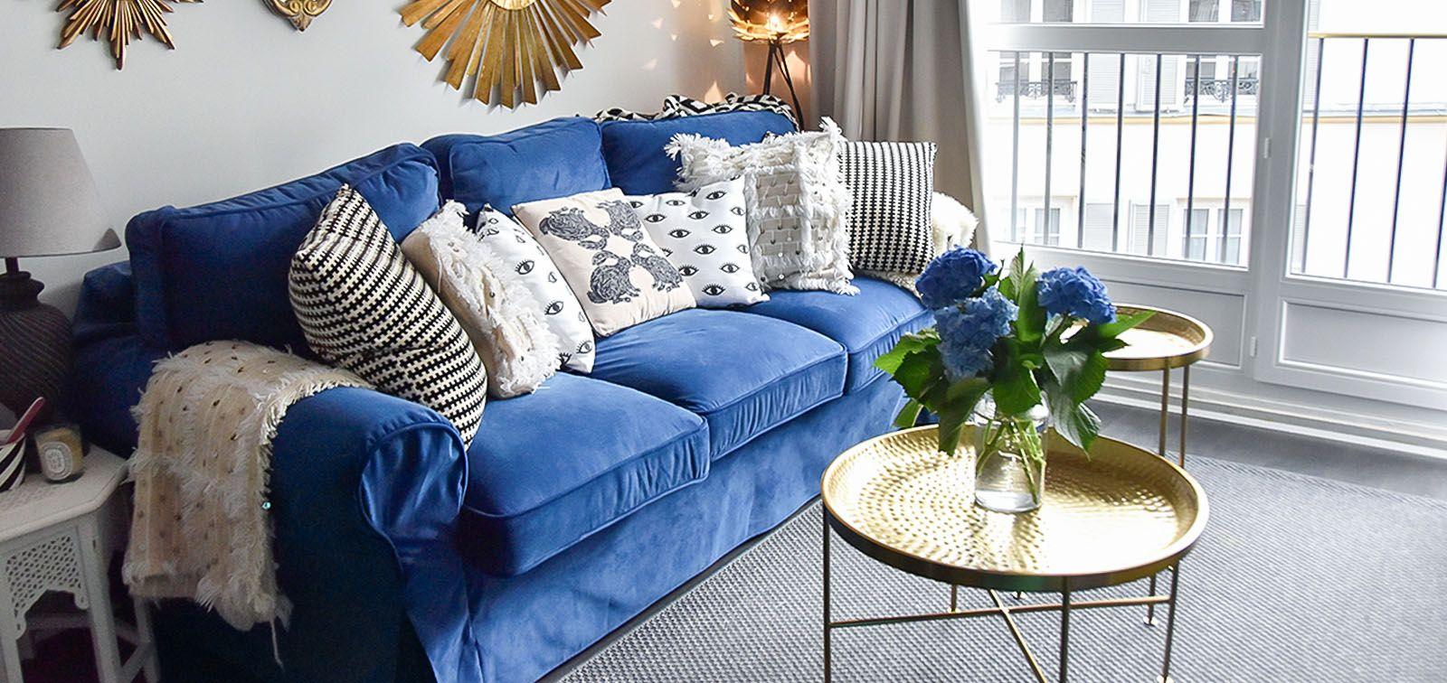 Ikea Ektorp 3 Seater Sofa In Rouge Indigo Velvet Sofa Slipc