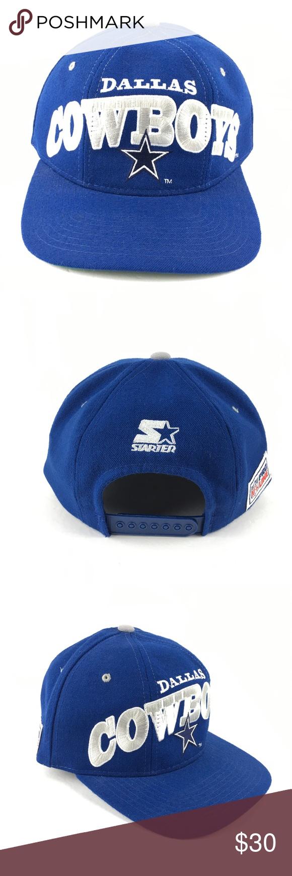Vintage Dallas Cowboys Starter Hat Snapback Wool Vintage Dallas Cowboys  Starter Hat Cap Blue Grey Silver 679d24c1e95b