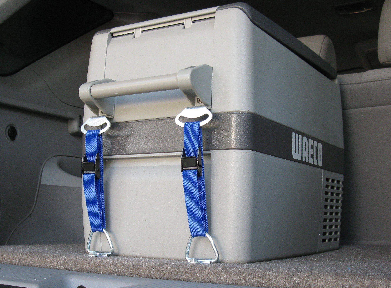 Kleks Tie Down Kit Complete With Cam Buckle Straps Anchor Points Suit Waeco Cf Series Fridge Freezers Buckle Straps Fridge Accessories