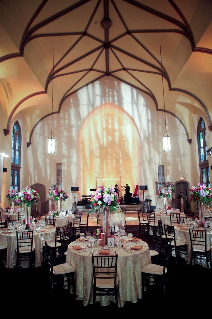 Reception at the Ninth Street Abbey   Photography: Stephen Seebeck Photography   Wedding Planner: Cosmopolitan Events