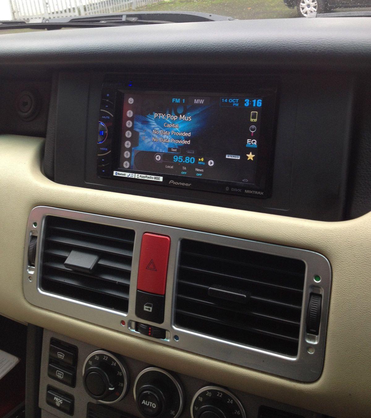 Range Rover Double Din Conversion With Pioneer Avh X2600bt Dvd Bluetooth Stereo Avh Range Rover Car Radio
