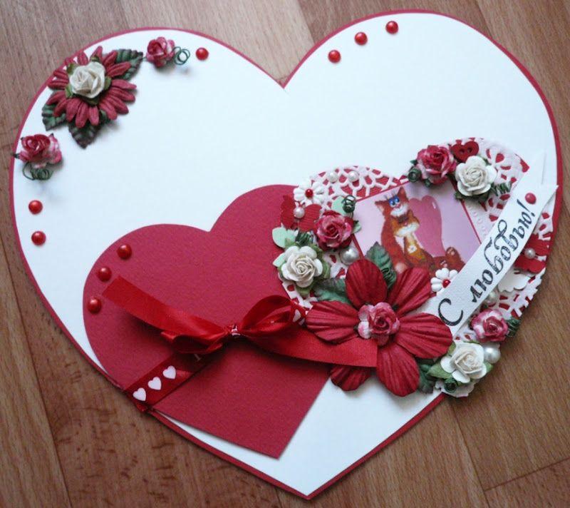 Открытка из сердечек фото