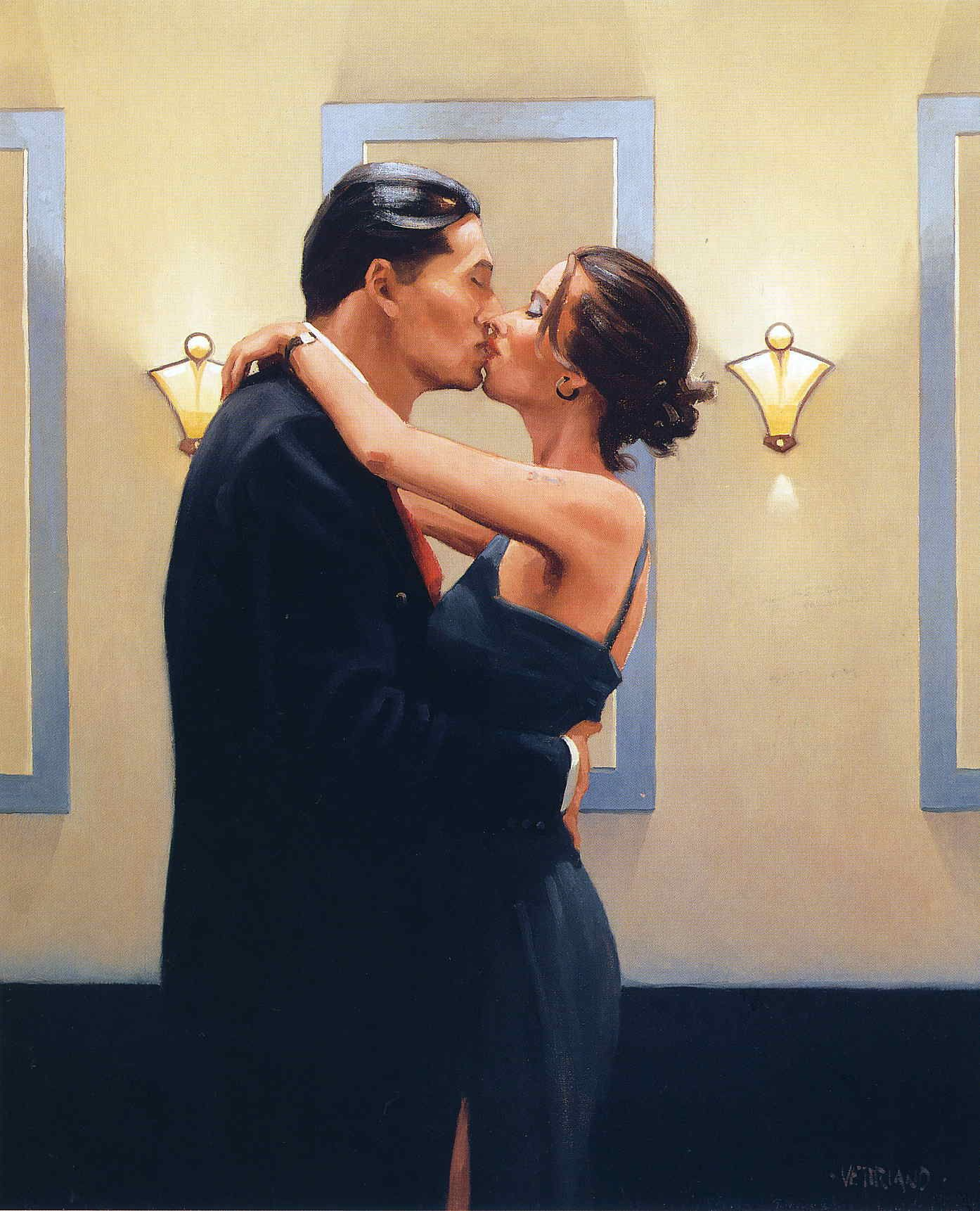 Jack Vettriano - Betrayal First Kiss 2001