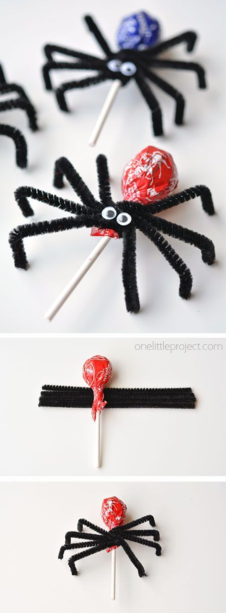 How to make Lolly Pop Spiders #halloweentreatsforschool