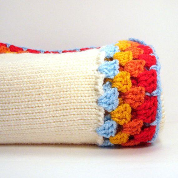 knit blanket with crocheted border | Acabados en crochet | Pinterest ...