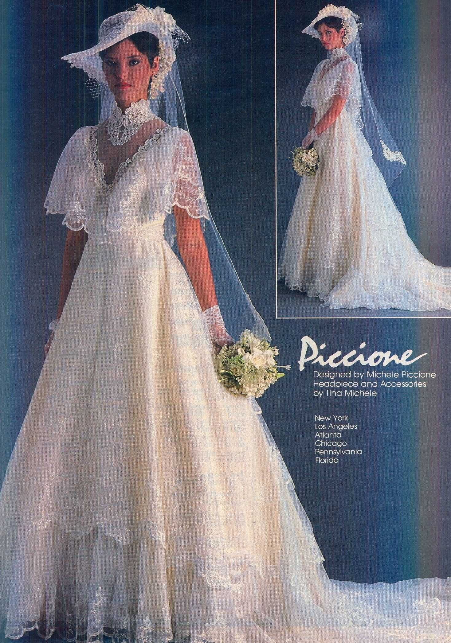 vintage wedding dresses not white - beautiful vintage