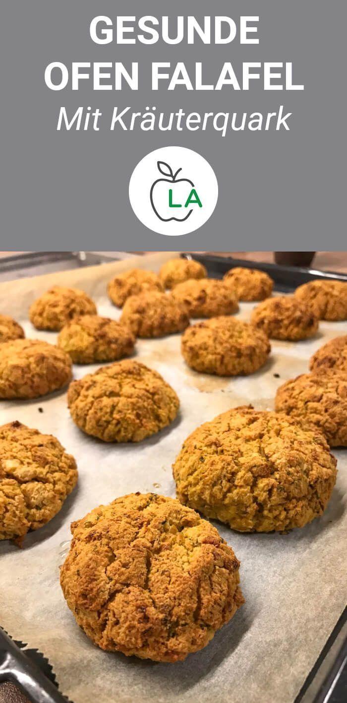 Gesunde Ofen Falafel mit Kräuterquark - Fitness Rezept zum Abnehmen  #abnehmen #falafel #fitness #ge...