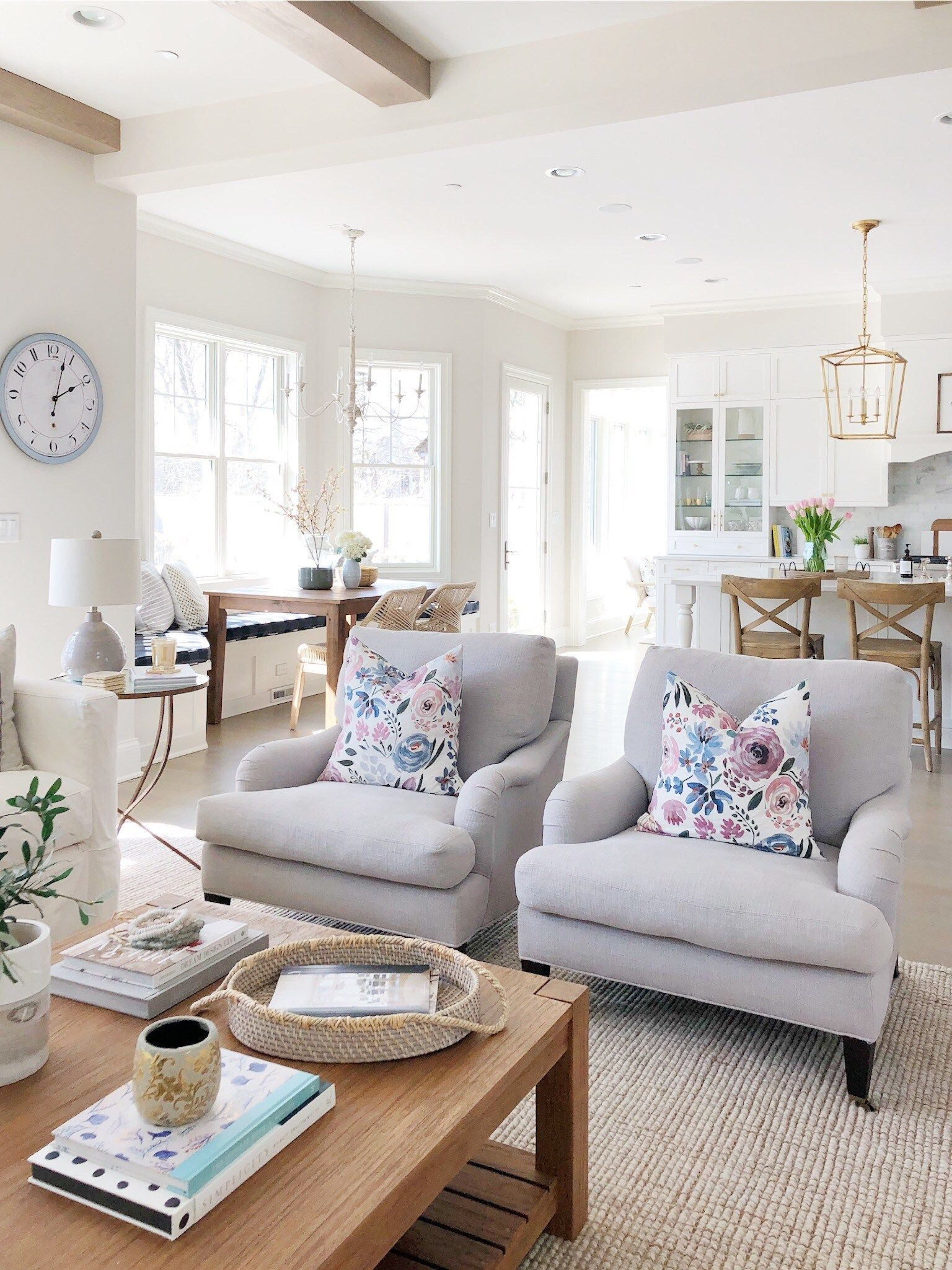 Light Bright Spring Home Tour Life On Cedar Lane Farm House Living Room Living Room Decor Living Room Designs