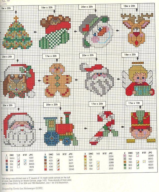 Solo Patrones Punto Cruz | Bordado | Cross Stitch, Christmas cross y ...