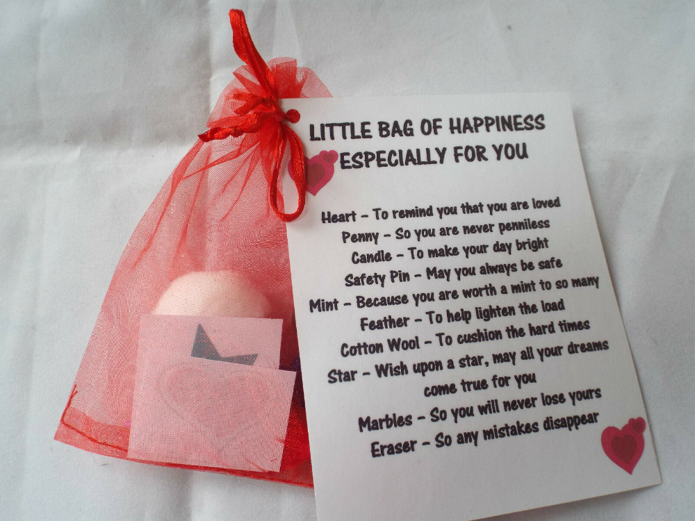 Details about LITTLE BAG OF LOVE/HAPPINESS Novelty Survival Novelty Gift Fun Keepsake Unique